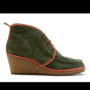 "Olukai ""Wali"" Suede Wedge Ankle Bootie Size 8"